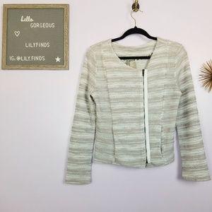 Anthropologie Dolan Zip-front Knit Blazer Size S